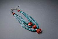 Priscilla%20Nieto%2C%20%3Cb%3E%3Ci%3E%20Three-Strand%20Waterfall%20Necklace%3C%2Fi%3E%3C%2Fb%3E%2C%202011%2C%20turquoise%2C%20coral%2C%20spiny%20oyster%2C%20and%20linen%20thread%2C%20Museum%20Purchase%3A%20Native%20American%20Art%20Council%20funds%2C%20%26%23169%3B%20unknown%2C%20research%20required%2C%202012.96.1